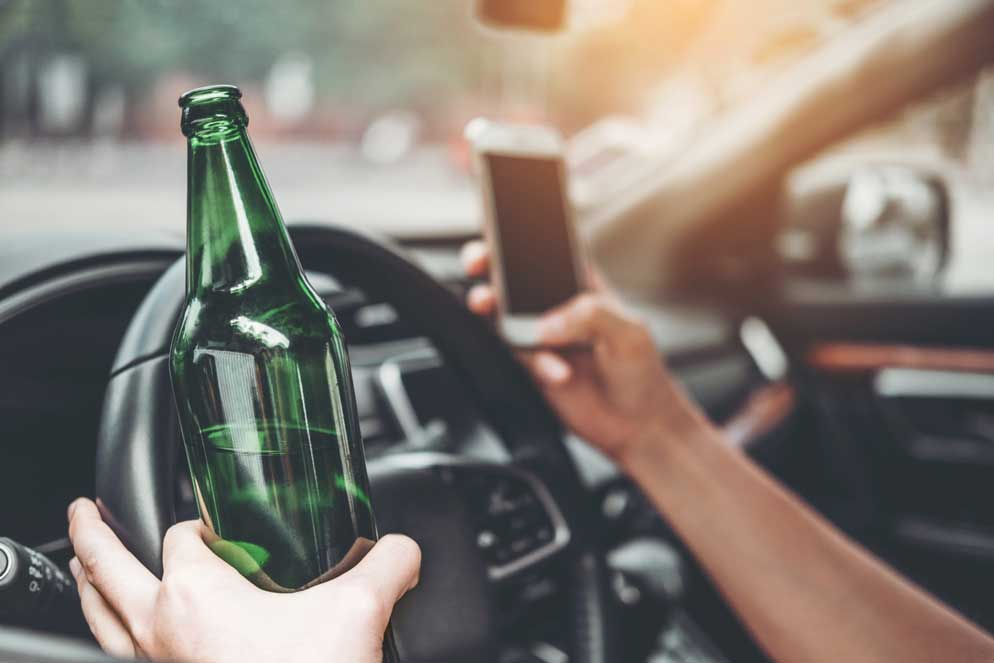 Driving drunk and texting
