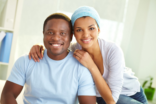 African and American couple
