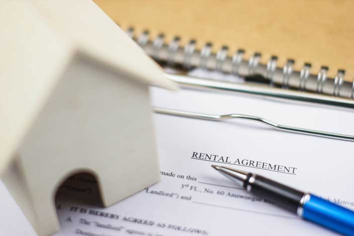 Rental Agreement papers