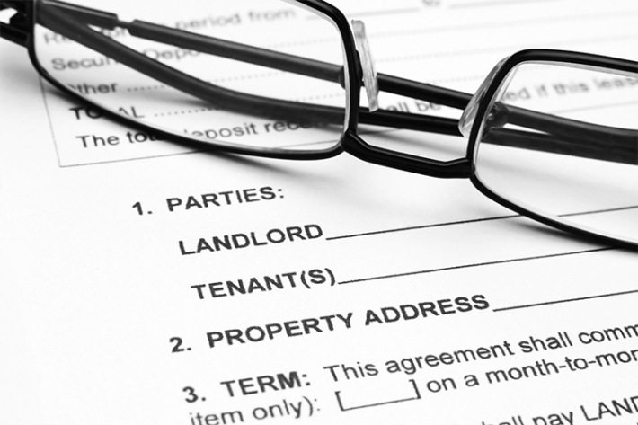 Landlord Tenant Agreement papers